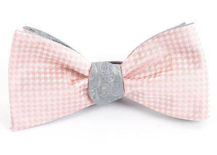 Be Married Paisley Blush Pink Bow Tie