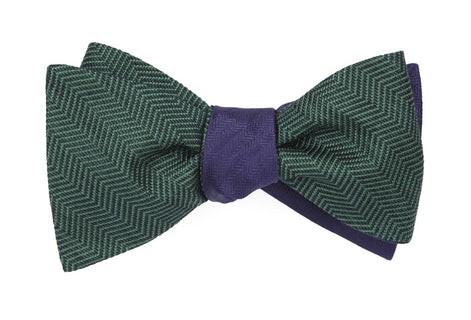 Verge Sound Wave Hunter Green Bow Tie