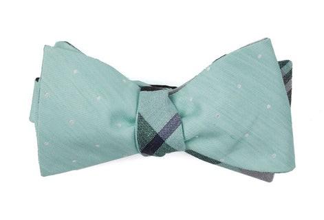Bulletin Dot Plaid Spearmint Bow Tie