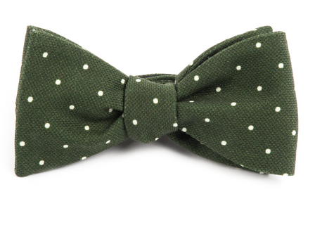 Primary Dot Dark Clover Green Bow Tie
