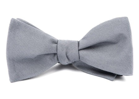 Solid Wool Light Grey Bow Tie