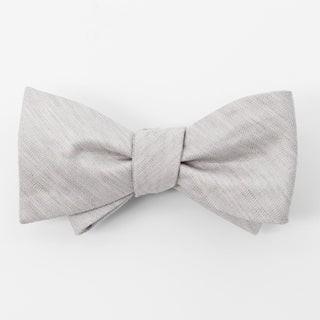 Bhldn Linen Row Grey Bow Tie