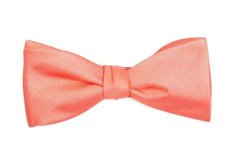 Grosgrain Solid Coral Bow Tie