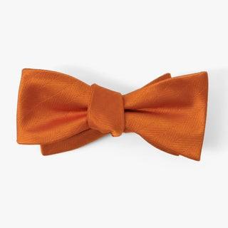 Herringbone Vow Rust Bow Tie