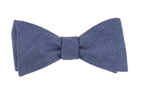 Barberis Wool Togna Blue Bow Tie