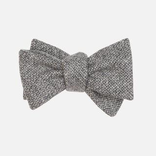 Barberis Wool Vestito Grey Bow Tie