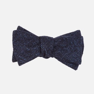 Barberis Wool Vestito Navy Bow Tie