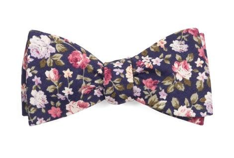 Moody Florals Navy Bow Tie