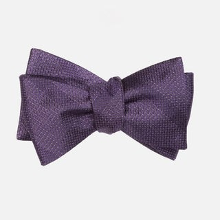 Glimmer Eggplant Bow Tie