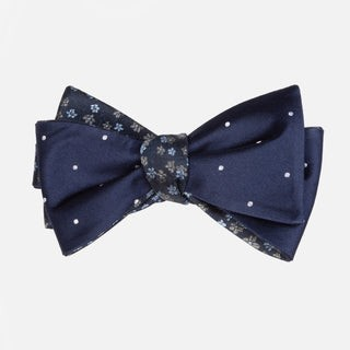 Milligan Dots Navy Bow Tie