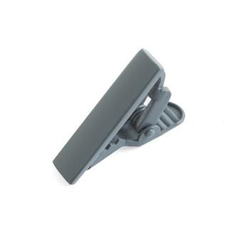 Matte Color Silver Tie Bar