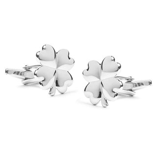 Four-Leaf Clover Silver Cufflinks