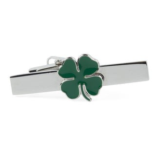 Four Leaf Clover Green Tie Bar