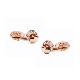 Loose Knots Rose Gold Cufflinks