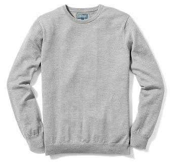 Perfect Merino Wool Crewneck Heather Grey Sweater