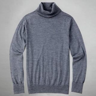 Perfect Merino Wool Grey Turtleneck Sweater