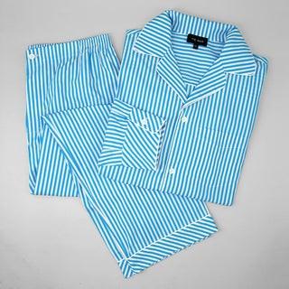 Aqua Stripe Pajama Set