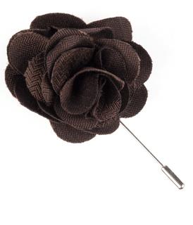 Astute Solid Chocolate Lapel Flower