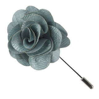 Twill Paisley Spearmint Lapel Flower