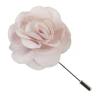 Linen Row Blush Pink Lapel Flower