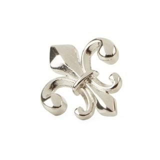 Fleur De Lis Silver Lapel Pin