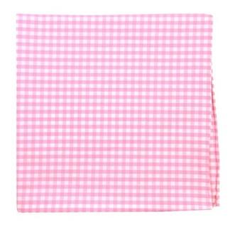 Novel Gingham Pink Pocket Square