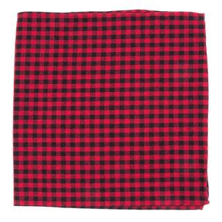 Metric Plaid Red Pocket Square