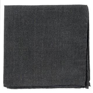 Cotton Glen Plaid Charcoal Pocket Square