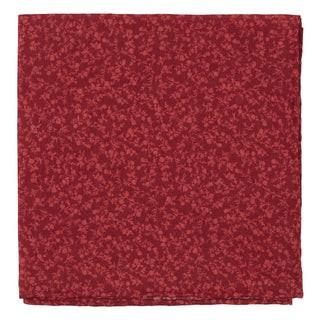 Floral Webb Red Pocket Square