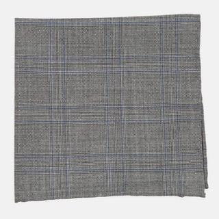 Azur Glen Plaid Grey Pocket Square