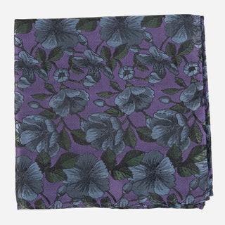 Monarch Floral Purple Pocket Square
