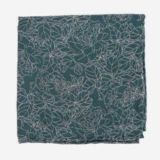 Lace Floral Hunter Green Pocket Square