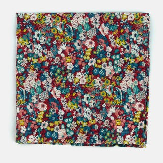 Liberty Thorpe Hill Teal Pocket Square