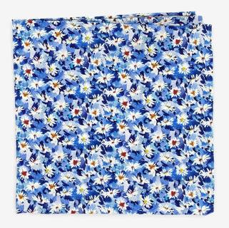 Liberty Simone's Song Blue Pocket Square
