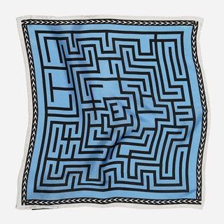 Tie Bar x Michel Men Maze Light Blue Pocket Square