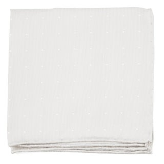 Bulletin Dot Ivory Pocket Square