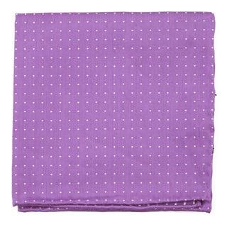 Rivington Dots Wisteria Pocket Square
