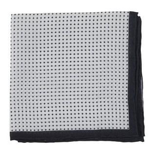 Domino Dots Black Pocket Square