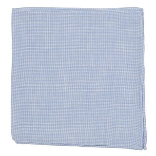 Summertide Tooth Dusty Blue Pocket Square