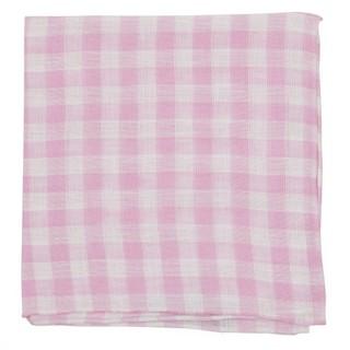 Saint Lou Checks Pink Pocket Square