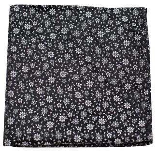 Milligan Flowers Classic Black Pocket Square