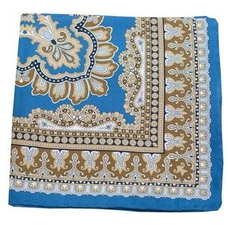 Persian Manor Cornflower Blue Pocket Square