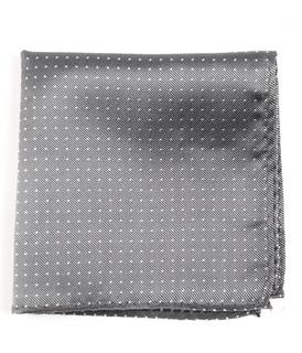 Mini Dots Grey Pocket Square