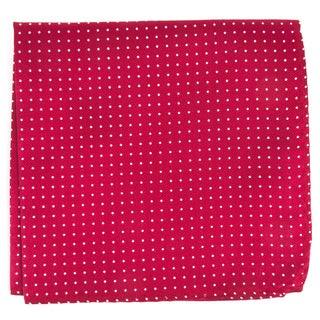 Mini Dots Red Pocket Square