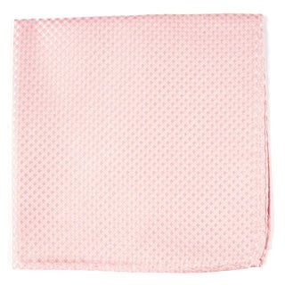 Be Married Checks Blush Pink Pocket Square