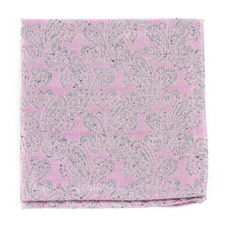 Hanging Paisley Baby Pink Pocket Square