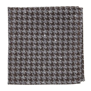 Houndstooth Thrill Chocolate Brown Pocket Square