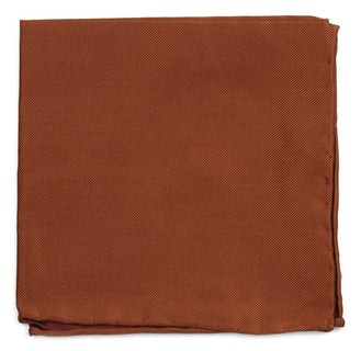 Solid Twill Burnt Orange Pocket Square
