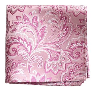 Organic Paisley Baby Pink Pocket Square