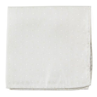 Suited Polka Dots Ivory Pocket Square